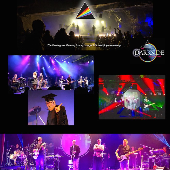 a photo montage of the band