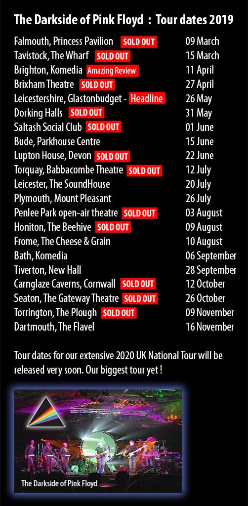 The Darkside of Pink Floyd Tour Dates 2019